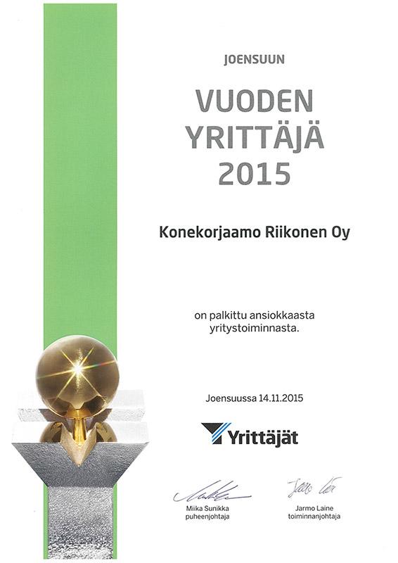 joensuun-vuoden-yrittäjä-2015-konekorjaamo-riikonen-oy