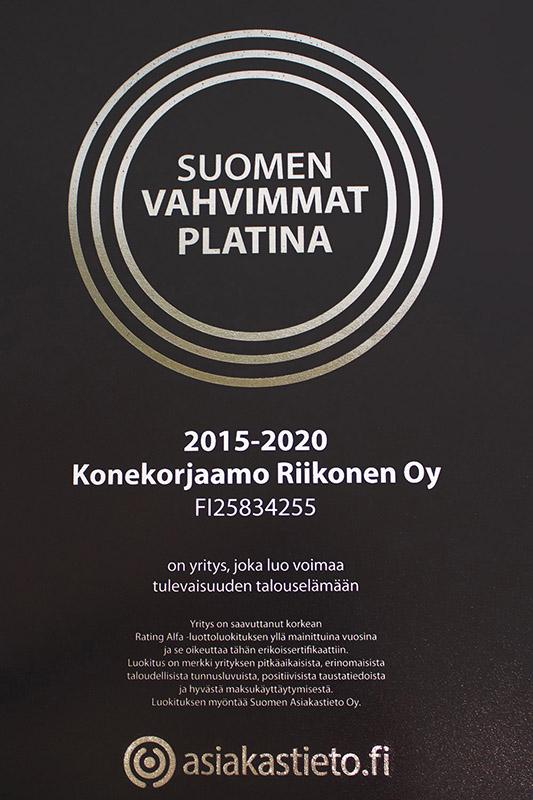 konekorjaamo-riikonen-oy-asiakastieto-suomen-vahvimmat-platina